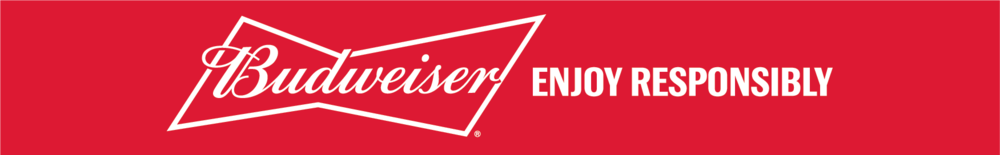 A Budweiser® banner encouraging you to enjoy responsibly.