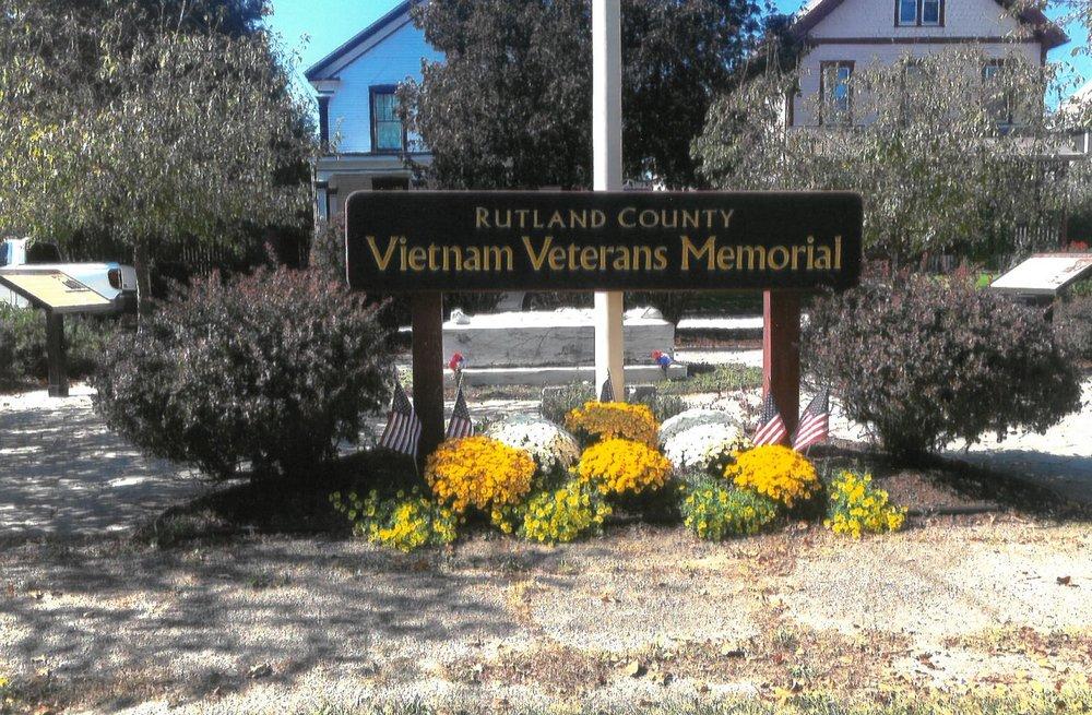 Photo of the Rutland City Vietnam Memorial Garden by The Rutland Garden Club