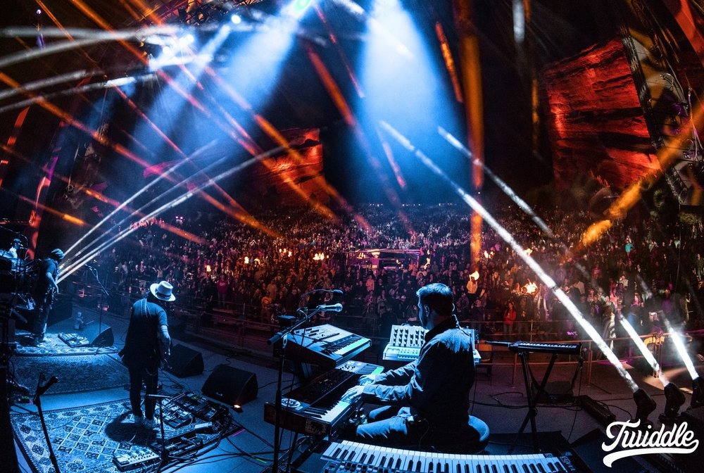 Twiddle plays Red Rocks in Morrison, CO. Photo via  Twiddle's Facebook .