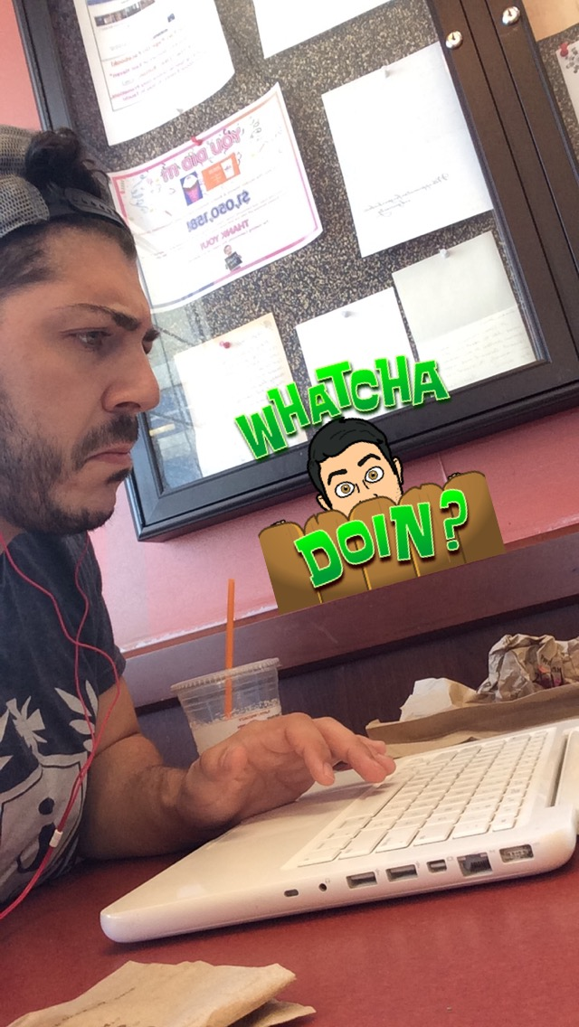 "Blogger AJ Massaro Putting In Work at local Dunkin Donuts - ""Whatcha doin?"" ""...Blogging."""