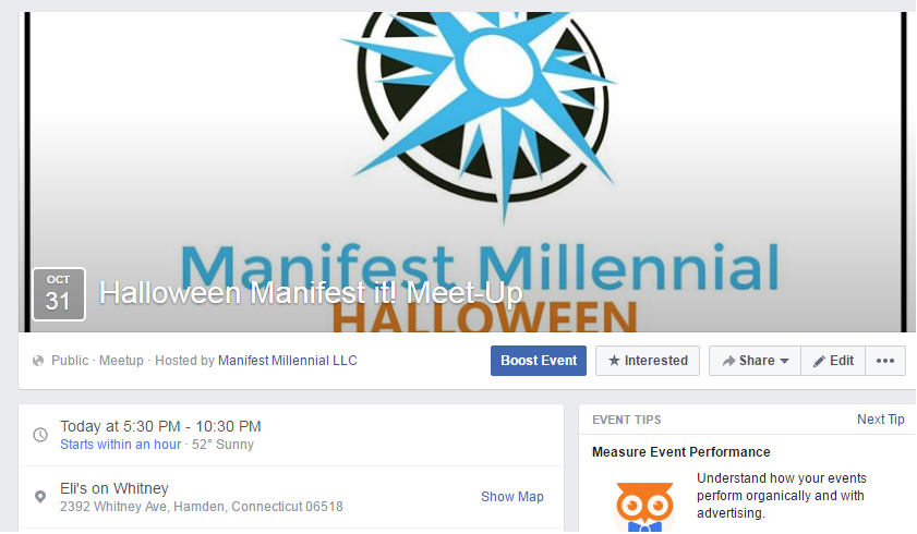 Invitation to Halloween Manifest Meet up