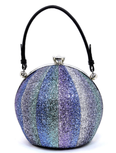 Blue Glitter Beach Ball Handbag 173886f6e7fc