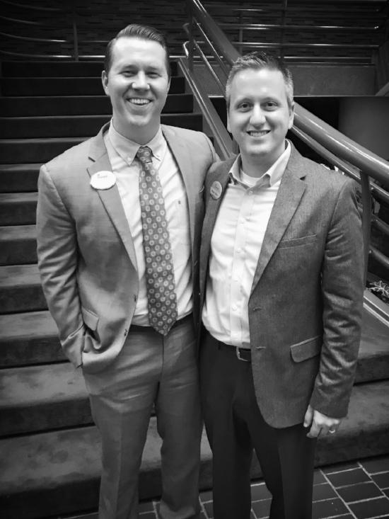 Ryan & Luke at Luke's Owner/Operator Graduation in Atlanta, GA.