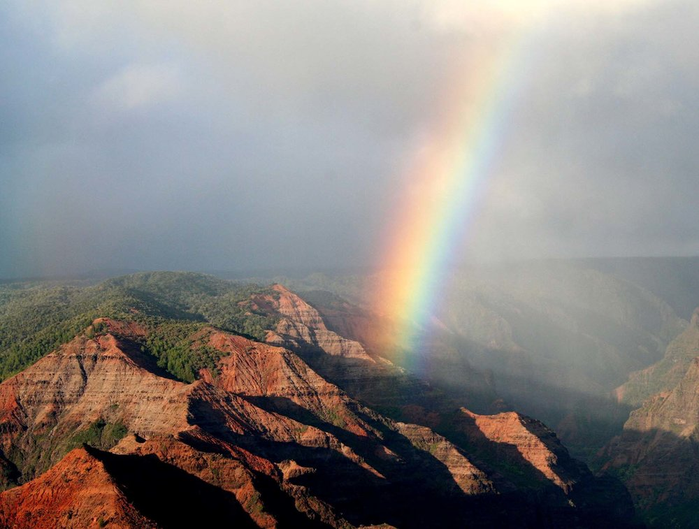 Rainbow over Waimea Canyon, Kauai