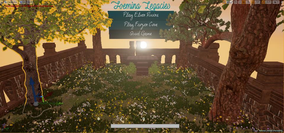Foemina Legacies - Main menu designed in UE4