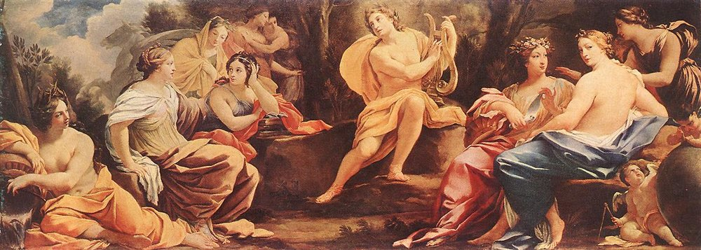 Parnassus or Apollo and the Muses - Simon Vouet c. 1640