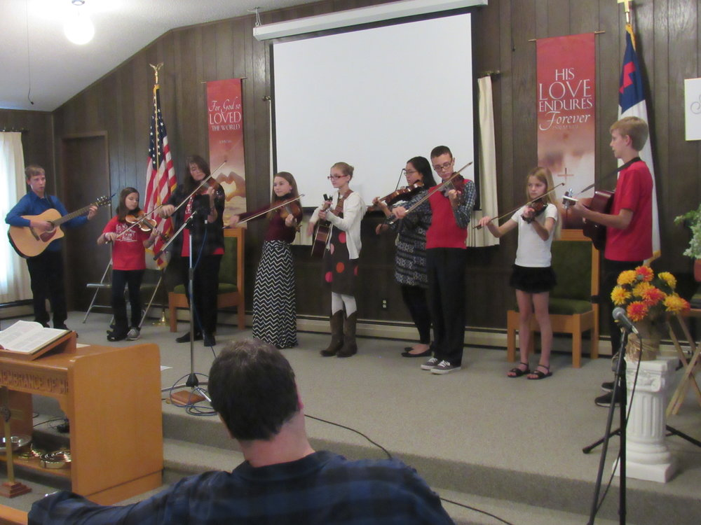 Church Possum Holler Fiddler Performance
