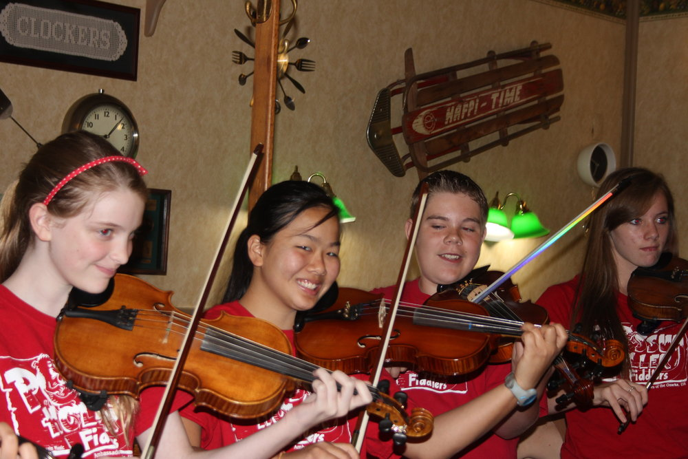 Possum Holler Fiddlers having fun