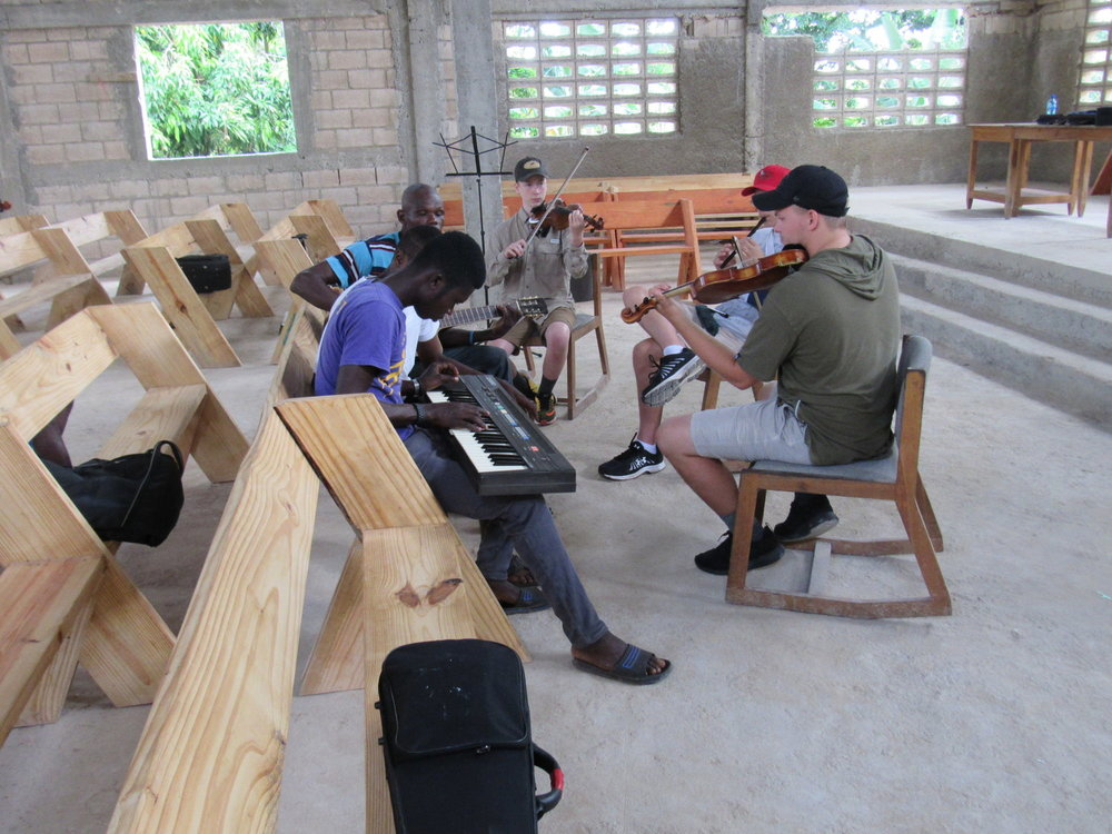 Sharing music in Haiti