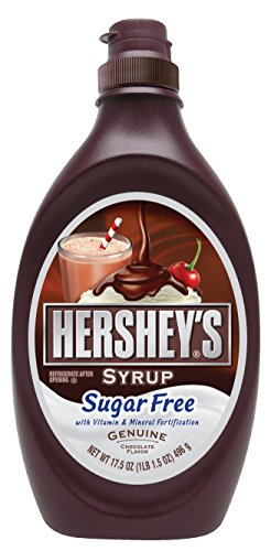 HERSHEY'S Chocolate Syrup, Dessert Topping/Beverage Syrup, Sugar-Free