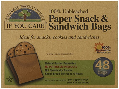 IF YOU CARE Unbleached Sandwich Bags
