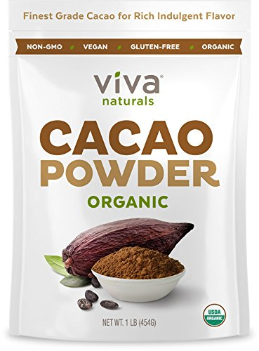 Viva Naturals Certified Organic Cacao Powder from Superior Criollo Beans