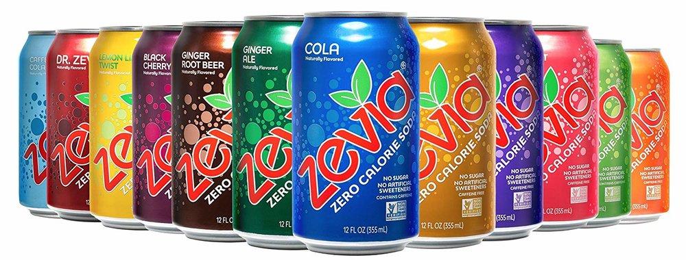 Zevia Zero Calorie Soda, Rainbow Variety Pack