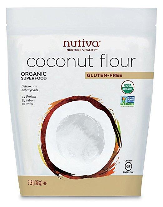 Nutiva USDA Certified Organic, non-GMO, Gluten-free, Unrefined Coconut Flour