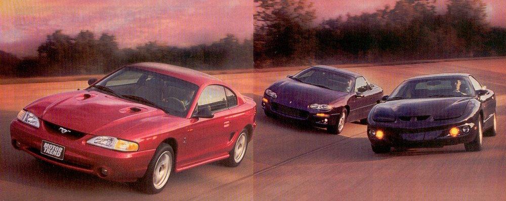 1998 Ford Mustang Svt Cobra Vs Chevrolet Camaro Z28 Vs
