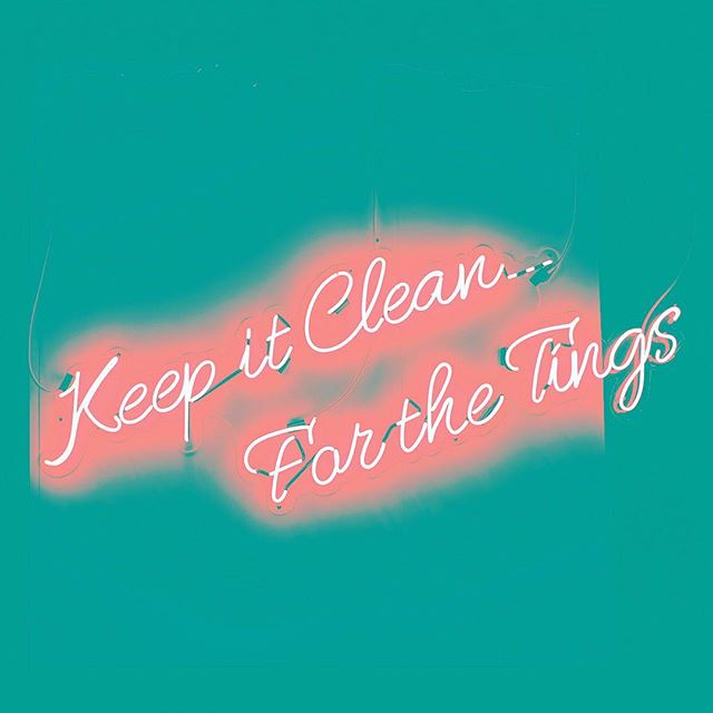 The thing is...neon signs are so cool looking they don't even have to make sense. Have a great weekend! #keepitclean #neon #tgif