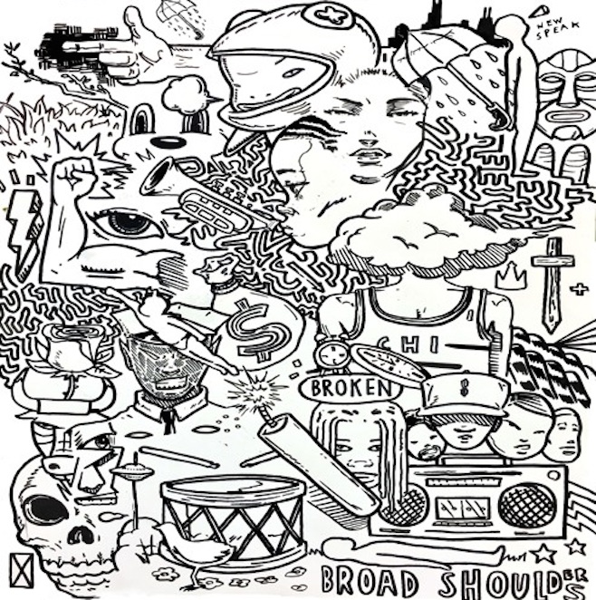 TAYLOR BENNETT - BROAD SHOULDERS (FEAT. CHANCE THE RAPPER) - 1:53PMAlbum: Broad Shoulders (2015)Label: Independent