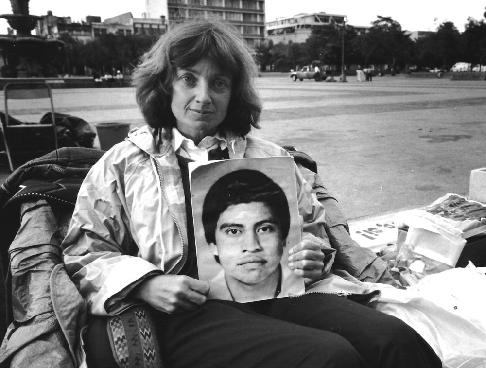 Jennifer Harbury on hunger strike, Guatemala City, 1984. Photo courtesy of Derrill Bazzy.