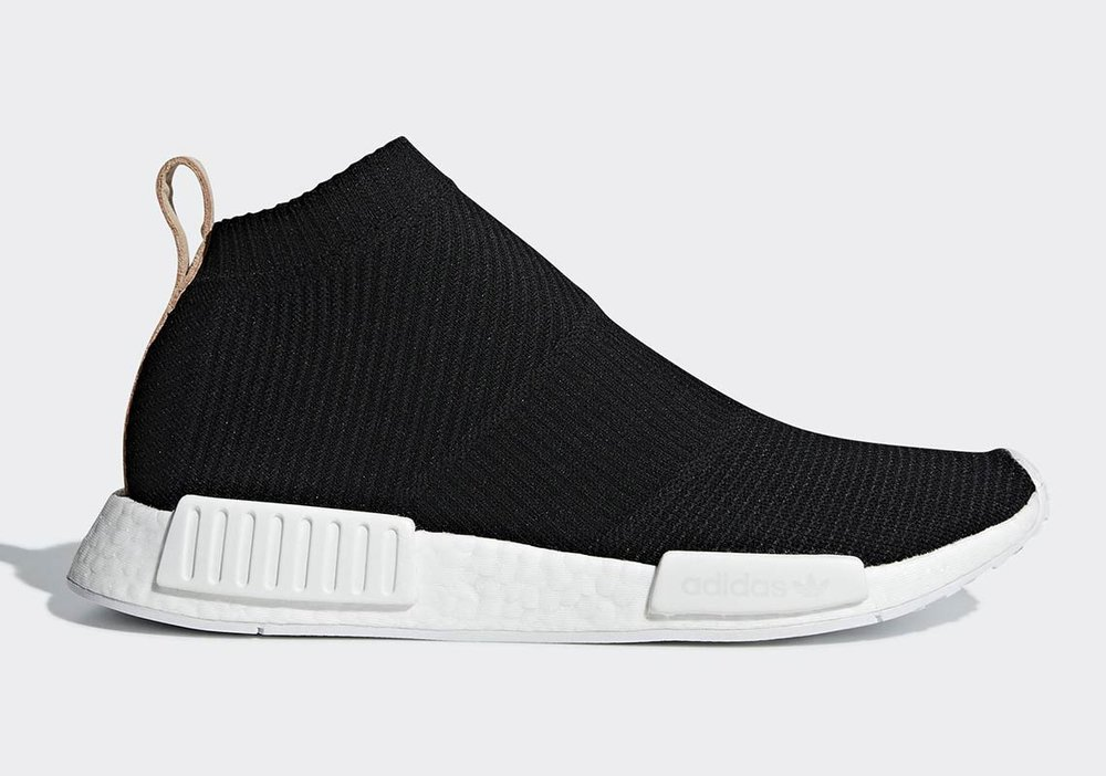 85e8c7897fe8d Sneaker Drop — Now Available  adidas NMD CS1 Luxe  Black Tan Leather