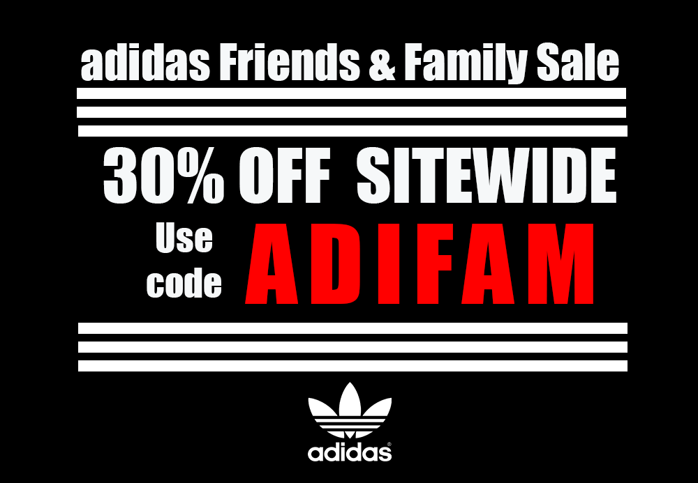 adidas Friends & Family Sale: 30% OFF SITEWIDE + FREE SHIPPING