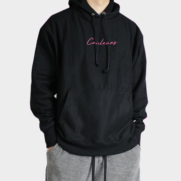 67bcbf5a Champion Reverse Weave Script Logo Hoodie (Black) — Couleurs