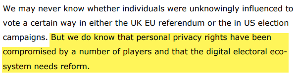 UK Commission Quote - Privacy Rights Compromised