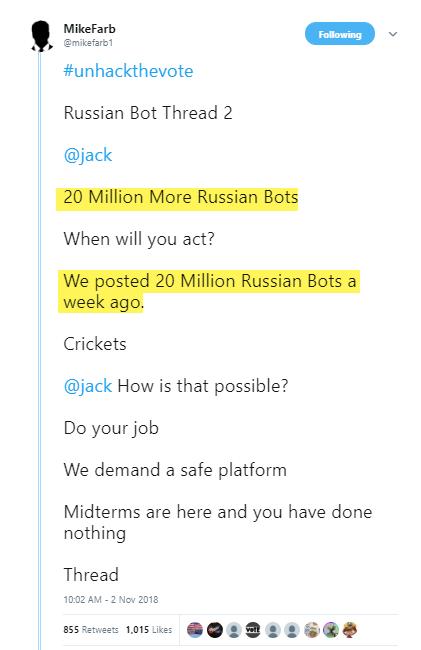 Unhackthevote - Russian Bot Thread