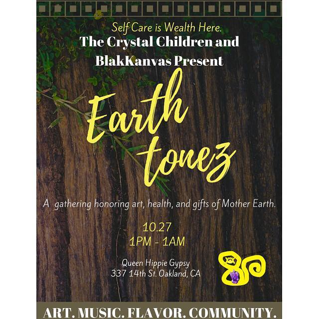 Oooh it's gone be lit lit! BLK MGK performing live tomorrow night at Earth Tonez! . . Performances start at 8pm Queen Hippie Gypsy  337 14th street Oakland, CA  #FKWDAMGK #BLKMGK