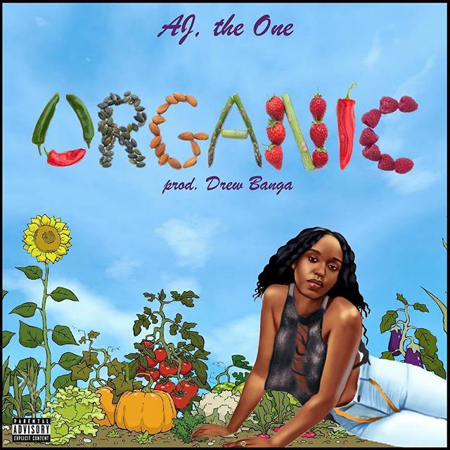 "🚨NEW MUSIC ALERT🚨 go slap @ajthe1ne new single ""ORGANIC (Freestyle)""🌶🌶 link in her bio • • • #music #newmusic #artist #organic #garden #hiphop #coverart #oakland #inglewood #ajtheone #drewbanga #authentic #real #human #fruit #vegetables"
