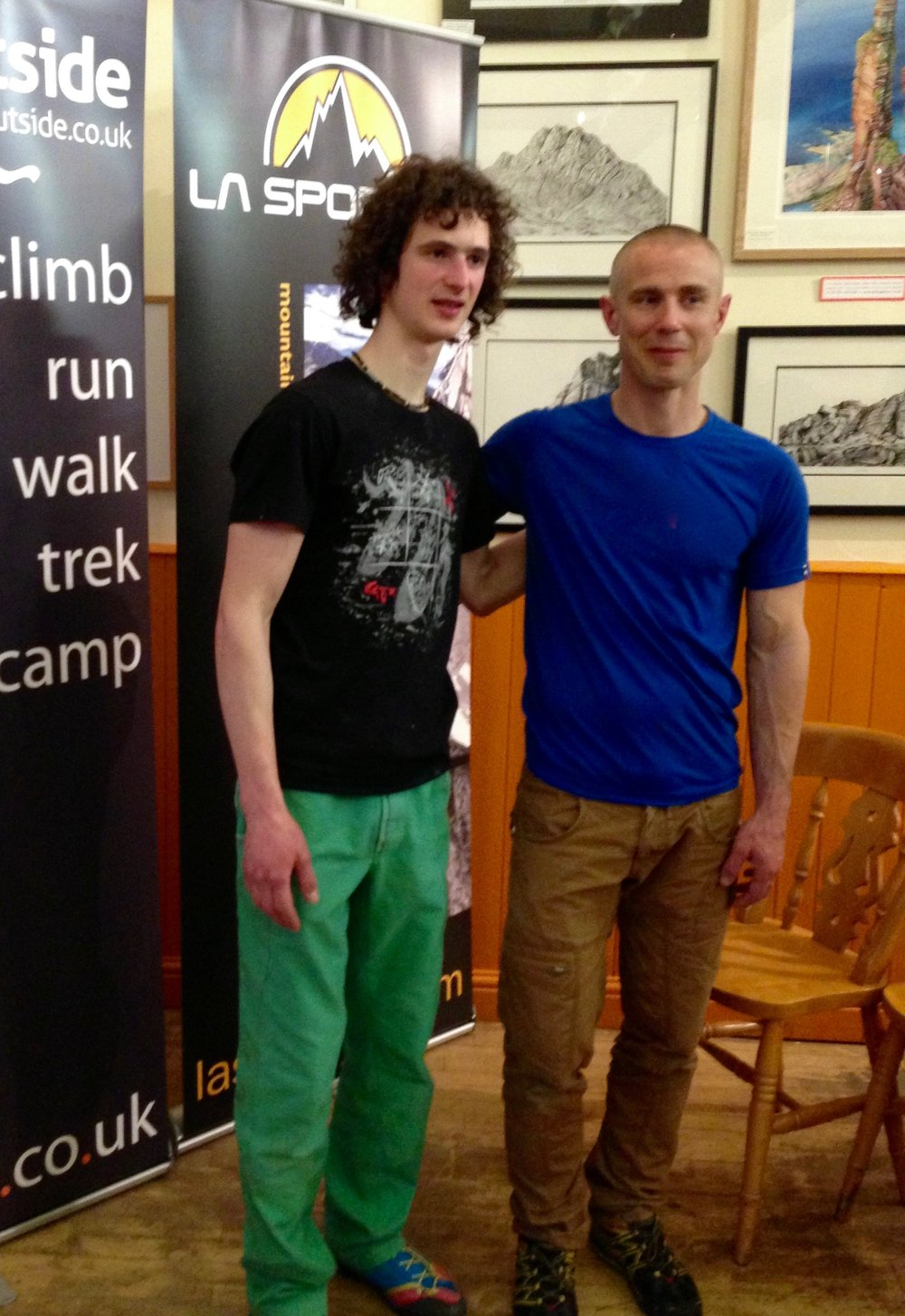 UK lecture tour with Adam Ondra in 2015.
