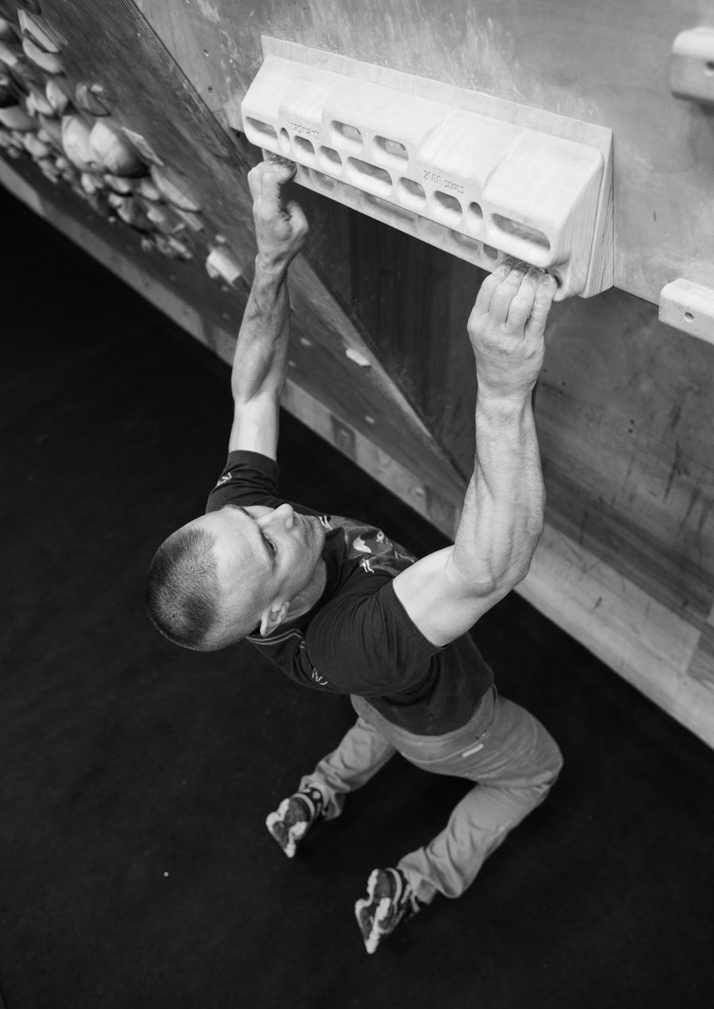 Deadhang repeaters are used as a measure of pure forearm endurance. Photo: Nick Brown