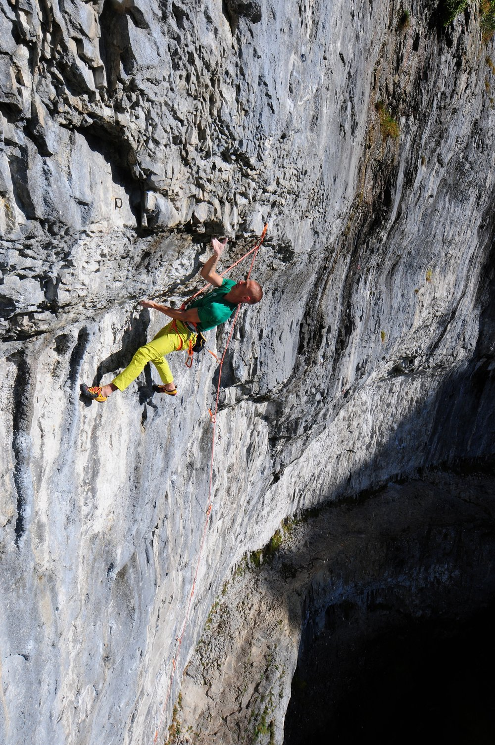 Entering the crux of Sabotage 8c+  Photo: Ian Parnell