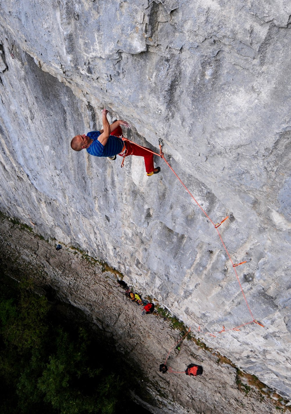Sabotage 8c+, Malham Cove, UK.  Photo: Ian Parnell