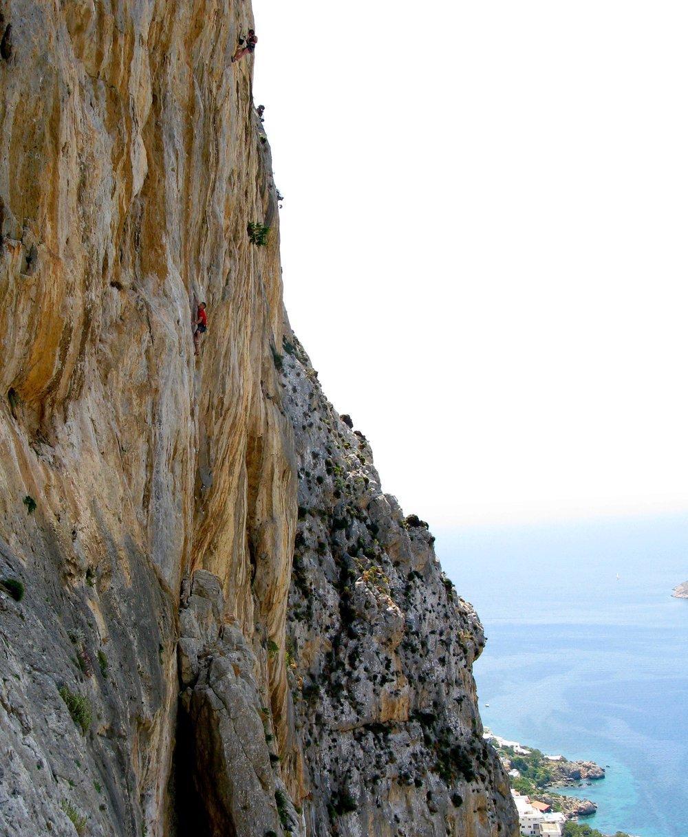 Fudoshin 7c+, Lower Spartan Wall, Kalymnos.  Photo: Selina Chen