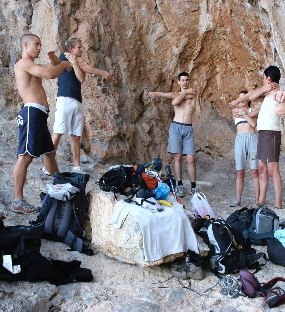 Neil developed the format for the first performance sport climbing coaching holidays in Kalymnos and Fontainebleau in 2001 and he ran these successful courses annually for over a decade.