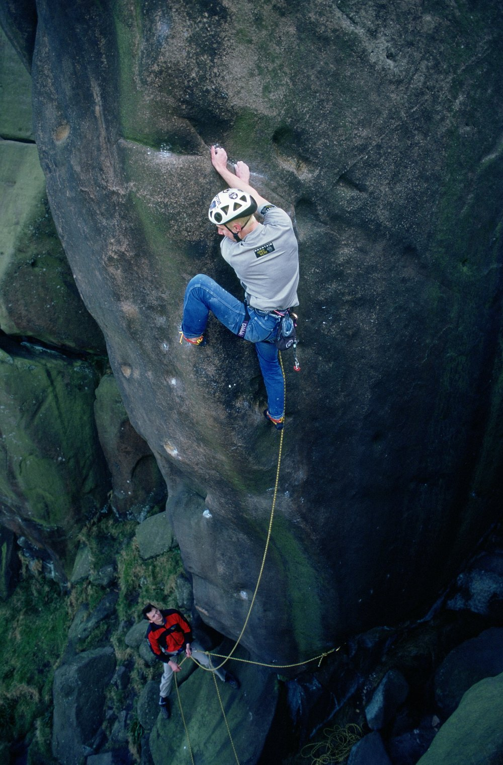 Meshuga E9 6c, Black Rocks, UK. Second ascent in 2000.  Photo: Ray Wood