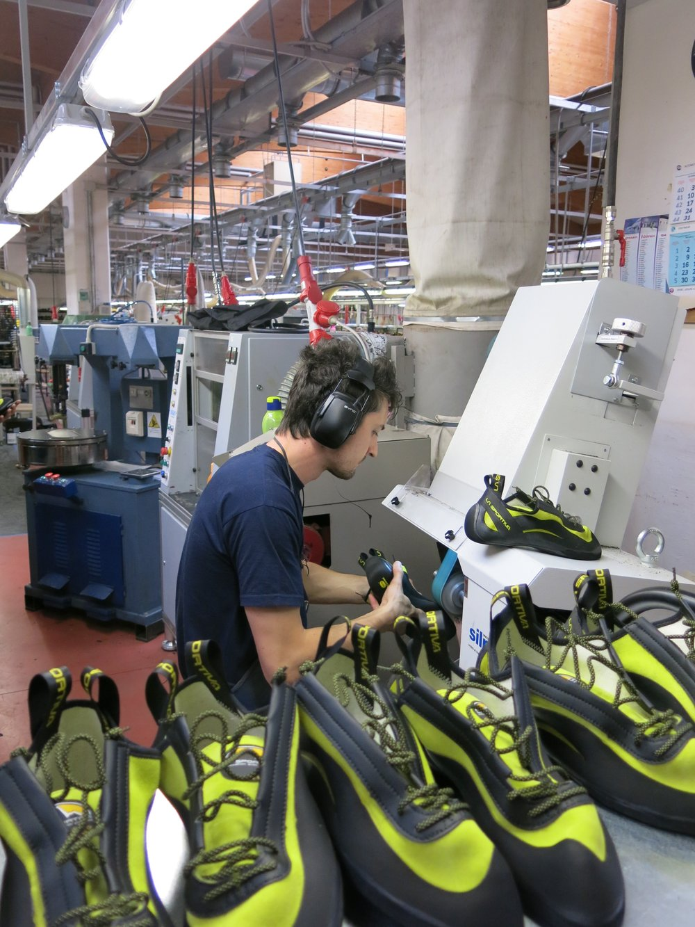 Quality control in action at the La Sportiva factory.