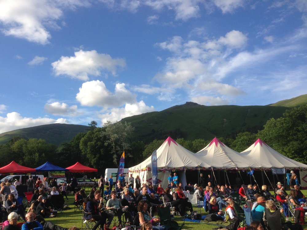 Speaking at Kendal Mountain Festival's outdoor event at Grasmere in 2016