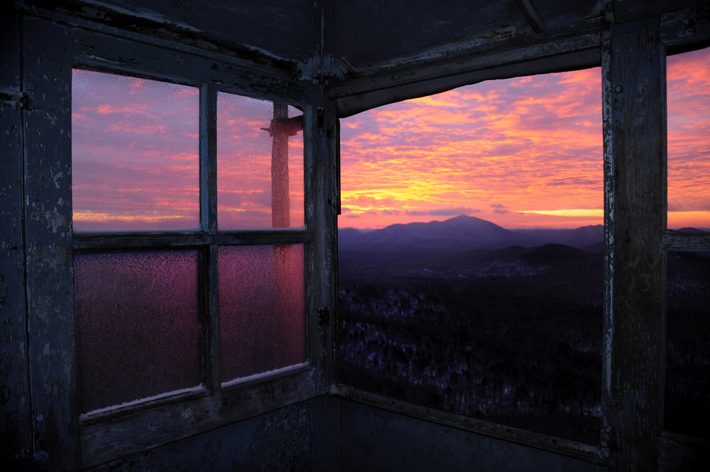 Open Edition #10 — Fire Tower Sunset - 12x18 - $45