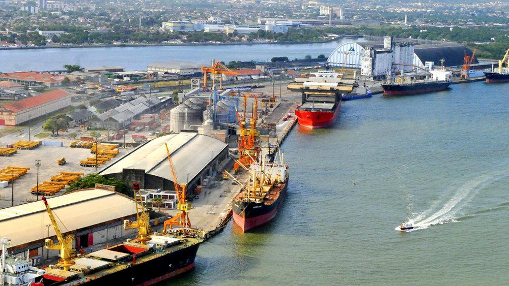 Vista aérea do Porto do Recife (PE)