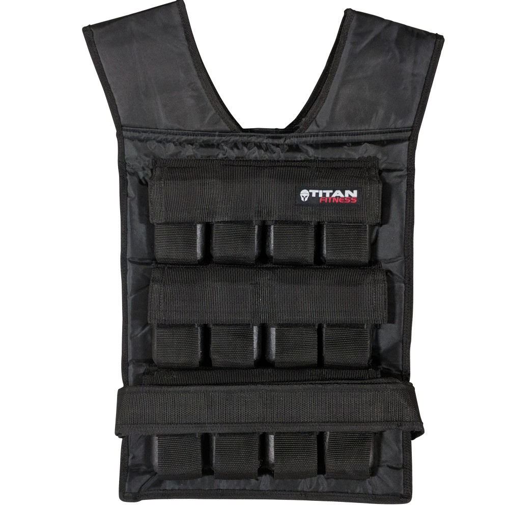 Weighted Vest - Weighted Walks / Loaded Carries are just about THE most functional thing you can do for fat loss and overall fitness... plus, it's recovery friendly and efficient! Look trendy while mowing your lawn or walking your dog with an adjustable weighted vest. For women, you want it to hold at least up to 30lbs. For men, it should hold at least up 50lbs. Read more in our article on weighted vests!