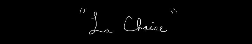 La Chaise (2015)