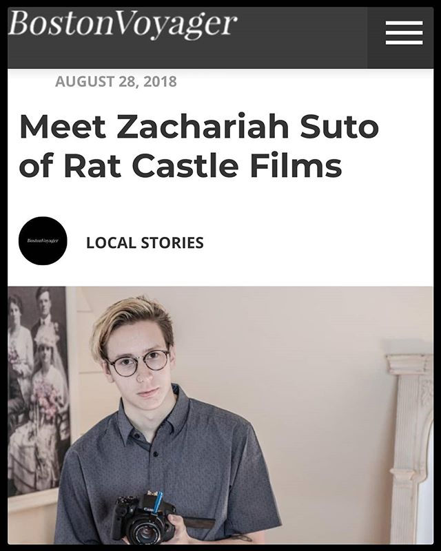 I am featured in @bostonvoyager Inspiring Stories series! In the interview I talk about Rat Castles origin and how story is the most important thing to me, both in my personal films and in my professional work. Give it a read if you have a chance!  http://bostonvoyager.com/interview/meet-zachariah-suto-rat-castle-films-boston/