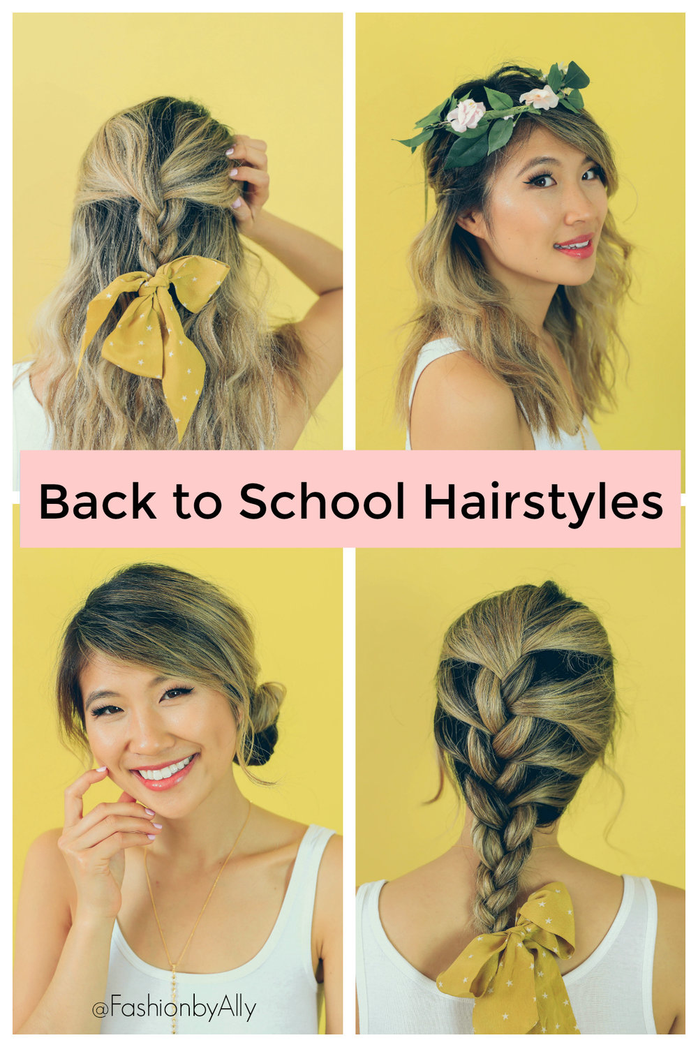 Easy and Quick Hairstyles for Back to School 2018! — Ally Chen