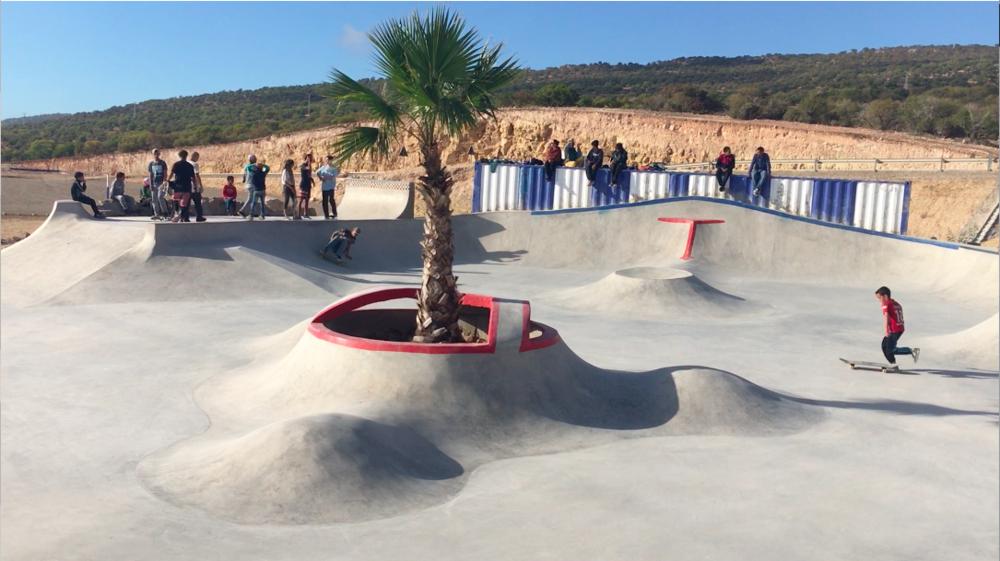 Taghazout skatepark.