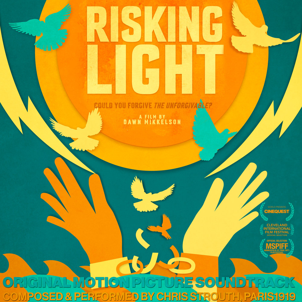 Risking Light is the soundtrack to the widely acclaimed award-wining documentary about forgiveness by Emmy award wining filmmaker Dawn Mikkelson. Risking light tells a story of forgiveness, this soundtrack is a mediation on it, written and performed by American composer Chris Strouth, of the Group Paris1919, gives a minimal drone background, haunting and beautiful, lingering with secrets and mystery one that reminds us that forgiveness is not a simple task. A dark ambient soundscape using choirs and drones, creating a music that seems familiar and foreign at the same time. Its world music for a country that doesn't exist.
