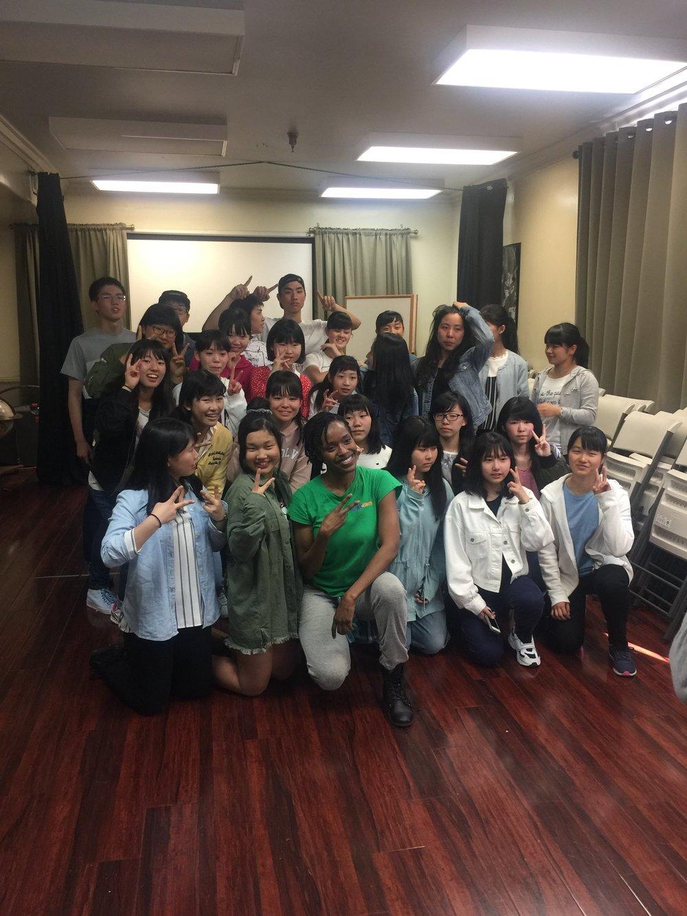 Visiting Japanese Students.JPG