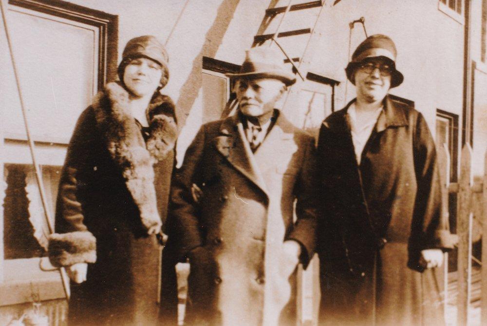 Hildur, Knut, and Ruth Grönholm in the 1920s - Swedish immigrants to the United States