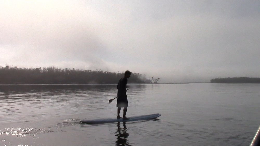 Matt's first time paddle boarding.