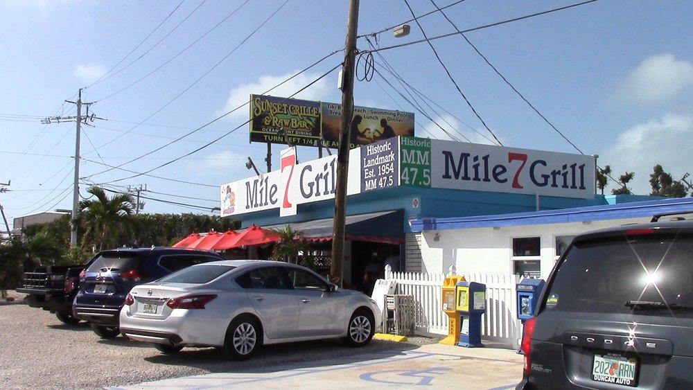 The famous Seven Mile Grill, with an amazing Mahi-Mahi sandwich.